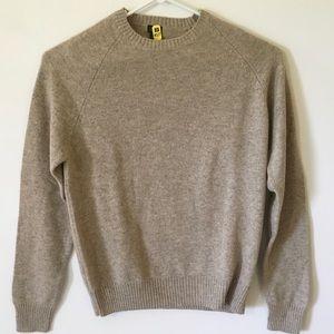 J. Crew 100% Lambs Wool Sweater Light Brown